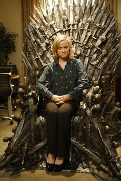 Leslie Knope. The Iron Throne. YES.