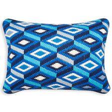 Diamonds Wool Lumbar Pillow