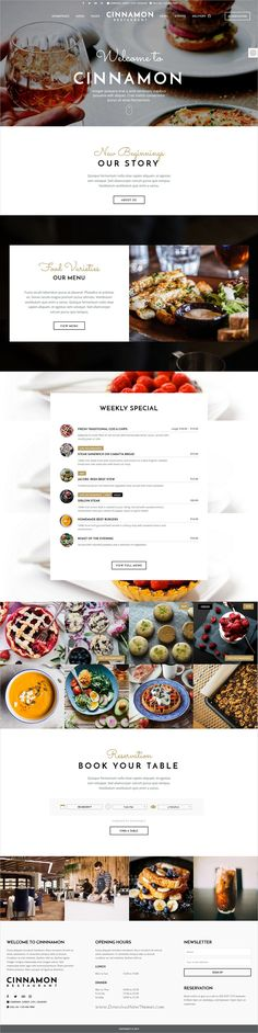 Recipe food is a wonderful responsive html5 bootstrap template cinnamon is clean and modern design 6in1 responsive wordpress theme for restaurant cafe forumfinder Choice Image