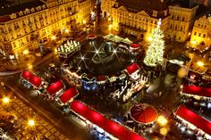 We have selected the most beautiful Christmas destinations in Europe. During your Christmas holiday in Europe you will discover the best Christmas markets and the most romantic Christmas destinations. Best Christmas Markets Europe, Christmas Holiday Destinations, Prague Christmas Market, Christmas Traditions, Christmas Travel, Holiday Travel, Noel Christmas, Very Merry Christmas, Christmas Ideas