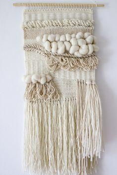 Boho wall weaving tapestry Woven wall hanging by weavingmystory