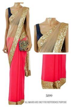 Bollywood Indian Pakistani Ethnic Priyanka Chopra Saree Sari Designer Party Wear