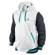 64324687005 Jordan Varsity Woven Men's Jacket Nike Sports Jacket, Jordans Outfit For Men