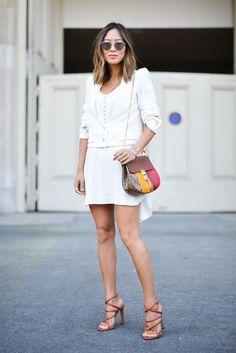 Aimee Song wearing Chloé.