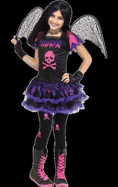 child pink punk fairy costume - Skelita Calaveras Halloween Costume