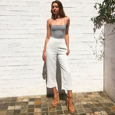 #saturdaystyle How cute is our KOOKAÏette snapped in the Blair Bodysuit, Oyster Pants & Jennifer Heels, shop the look in boutiques & online xx #kookai