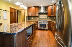 New granite and backsplash - Ohio Property Brothers