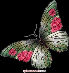 Welcome to butterfly animated gifs ! You will love these Butterfly pictures, Butterflies are a popular motif in the visual and . Butterfly Kisses, Butterfly Flowers, Butterfly Wings, Beautiful Butterflies, Butterfly Mobile, Glitter Pics, Glitter Images, Halloween Imagem, Barbie Images