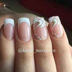 63 Ideas For French Manicure Tutorial Art Designs French Nail Designs, Beautiful Nail Designs, Nail Art Designs, Cute Nails, Pretty Nails, My Nails, Elegant Nails, Stylish Nails, French Nails