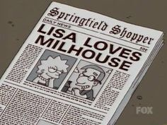 lisa loves milhouse