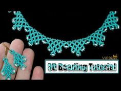 Beaded Necklace with Preciosa SeedBeads. Beading Tutorial - Beaded Necklace with Preciosa SeedBeads. Tutorial shows how to make a Beaded N - Diy Jewelry Necklace, Handmade Necklaces, Beaded Earrings, Beaded Jewelry, Handmade Jewelry, Necklace Ideas, Beaded Necklaces, Quilling Jewelry, Lace Necklace