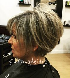 Stacked Bob For Women Over 50