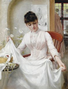 "Thomas Benjamin Kennington (1856-1916), ""The Wedding Dress"""