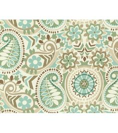 Home Decor Print Fabric- Waverly - Paisley Prism Latte *for vanity chair
