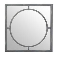 Gray Inner Circle Decorative Mirror