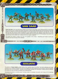 van saar and golioth info Necromunda Gangs, Rogue Traders, Imperial Army, Warhammer 40k Art, Box Houses, The Grim, Space Marine, Barbarian, Rogues