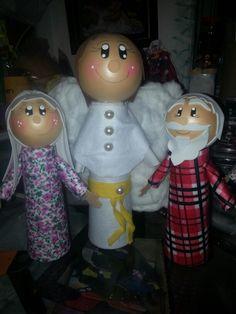 Nóe, esposa e o anjo com cone de linha