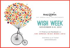 Chi Omega supports the Make a Wish Foundation!