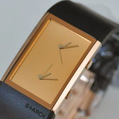 Dual Time Watch by Philippe Starck / The Dual Time Watch is one of designer Philippe Starck's more brilliant creations.  http://thegadgetflow.com/portfolio/dual-time-watch-philippe-starck/