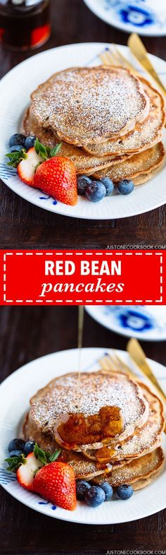 These moist and delicious red bean pancakes are great for breakfast or as a snack! If you love red beans like I do, then you'll enjoy this new red bean treat!