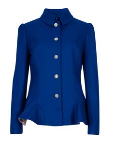 Buy Ted Baker Bracti Peplum Jacket, Bright Blue from our Women's Coats & Jackets range at John Lewis & Partners. Winter Jackets Women, Coats For Women, Clothes For Women, Ted Baker Jacket, Peplum Coat, My Style, Bright, Wool Coat, Formal Outfits