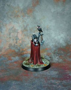 Age of Sigmar | Death Grand Alliance | Female Vampire Lord Conversion #warhammer #ageofsigmar #aos #sigmar #wh #whfb #gw #gamesworkshop #wellofeternity #miniatures #wargaming #hobby #fantasy #undead #vampire #conversion