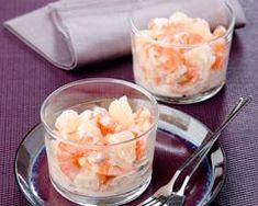 Verrine de salade de crevettes citronnée