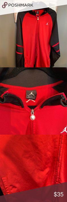 a89901edc25b Jordan Black and Red Zip Up Jacket Jordan Black and Red Zip Up Jacket.  Button