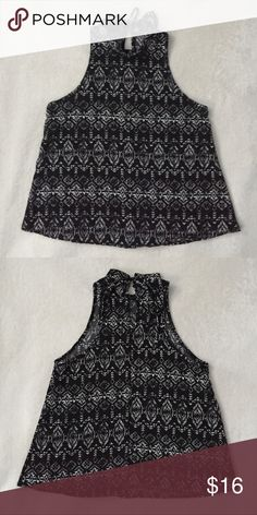 Acemi Patterned Top NWOT Black and white top with geometric print Acemi Tops