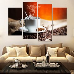 4 Pieces/set Wall Pictures For Living Room Coffee Art Painting Home Decorative Picture Paint On Canvas Prints Wall Art Pictures patio <3 AliExpress Affiliate's Pin. View the item in details by clicking the VISIT button
