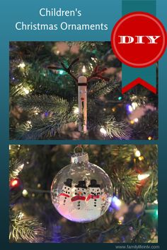 Easy and Fun DIY Christmas Ornament Crafts #Christmas #Crafts Our Knight Life