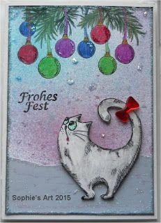 Sophie's Art: Weihnachts-Katze   *****   Christmas Cat