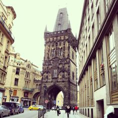 Gate to old town in Prague
