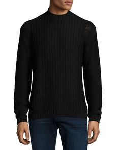Moga Cable-Knit Sweater, Black