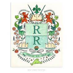 Insignia&Crests - Rachel Rogers Design.  Custom monogram for stationery.