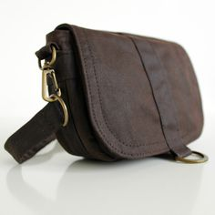 Waxed Canvas Hip Bag Waxed Canvas Pouch Waxed Canvas Bag  by minus, $57.00