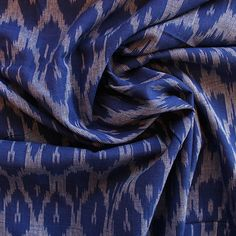 100% Light-medium weight Cotton. Gorgeous Ikat dyed cotton with a lovely drape, perfect for dressmaking projects such as the Vintage Shirt Dress or the Grace Dr