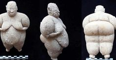 """""""This marble figurine was discovered next to an obsidian knife. After a few days, another figurine made of limestone was discovered. The second figurine has a piece of galena that is shiny and reflective and two beads around its head. It also has two tiny holes like it was carried around like a pendant,"""" Professor Ian Hodder said."""