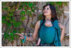 Ellevill Paisley Smaragd, bamboe-katoen blend. 75,-