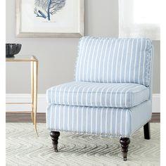 Safavieh Randy Light Blue Armless Club Chair | Overstock.com Shopping - The Best Deals on Chairs