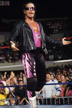 "Bret Hart, one of twelve who has talked ill about Triple H. Now both in good terms, Bret has called Hunter an ""Ass Kisser"" to Vince in terms resulting of his success. Wrestling Rules, Wrestling Stars, Wrestling Wwe, Wrestling Costumes, Hitman Hart, Eddie Guerrero, Catch, Kevin Owens, Lucha Libre"