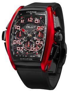 CVSTOS Pilot Black Titanium and Red Aluminium