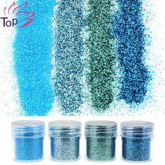 4 Bottle/Set 4 Colors Bling Bling Dust Gem Nail Glitter Decorations Acrylic Glitter Powder 3D Nail Art Tips BG041-044