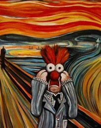 The scream beaker style