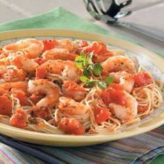 Italian Shrimp - a few more ingredients than using the prepared spaghetti sauce but fewer in calories