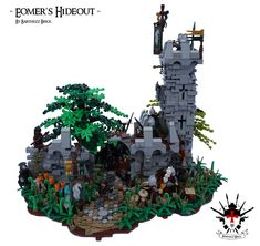 Hi, this is my first ever Lego MOC V2 (Deleted all my photos :S) My first LEGO MOC 'Eomer's Hideout' is inspired by the Lord of the Rings movies and my view of the exiled Rohirrim with it's leader Eomer. Aragorn is chased by a white hand Uruk-hai pack and runs into the secret camp of Eomer. The men of the Westmark sound the alarm and Eomer rushes towards Aragorn to help him out. How will this end.... I build this Moc on the go, so there are some small design flaws. Tips a...