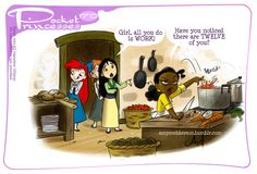 Pocket Princesses 170: Kiss the ChefPlease reblog, do not repost or remove captionsFacebook pageInstagram feed