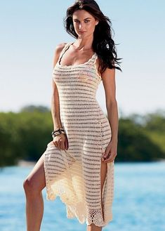 Simple beach dress with diagram