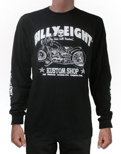 The KUSTOM SHOP Long Sleeve T-shirt by Billy Eight: http://bluebaldur.com/billy-eight-long-sleeve-t-shirt.html