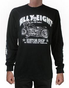 The KUSTOM SHOP Long Sleeve T-shirt by Billy Eight: http://bluebaldur.com/billy-eight-long-sleeve-t-shirt.html